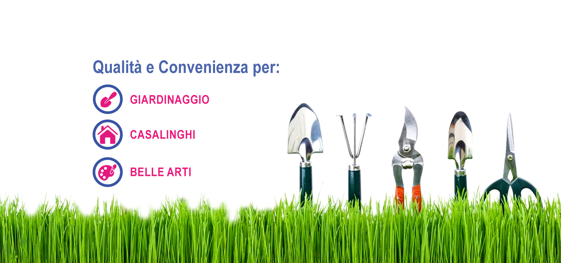 slide prodotti giardinaggio-casalinghi-arte