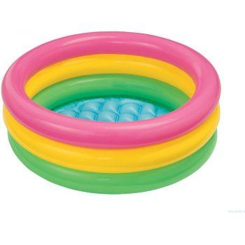 foto piscina gonfiabile arcobaleno